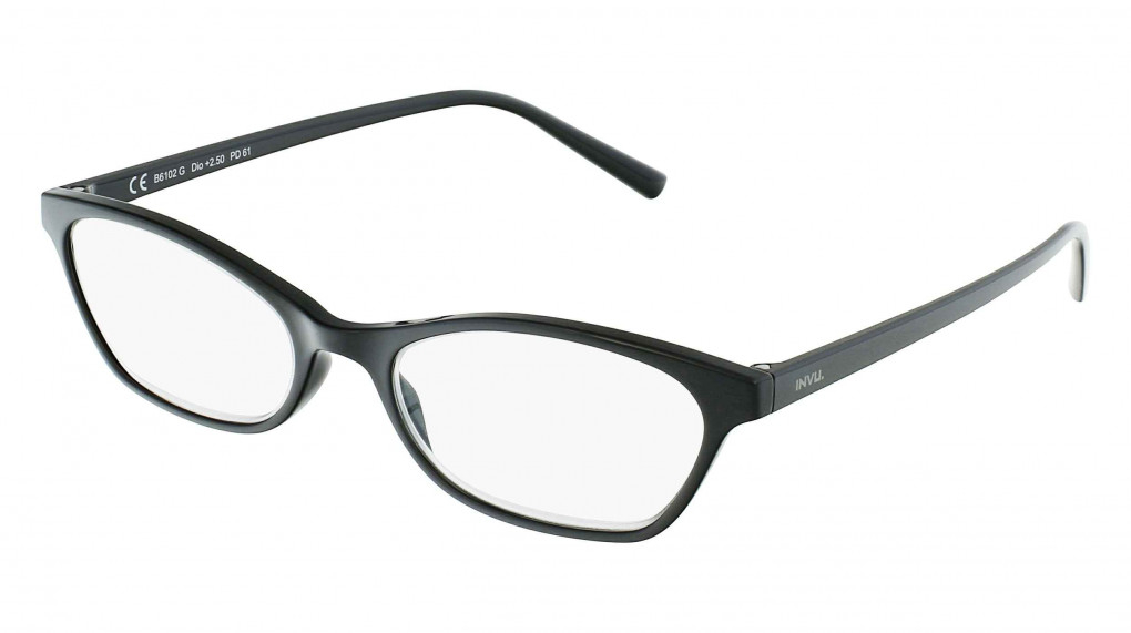 Hermes Black with Clear Optical Reading Glass lenses