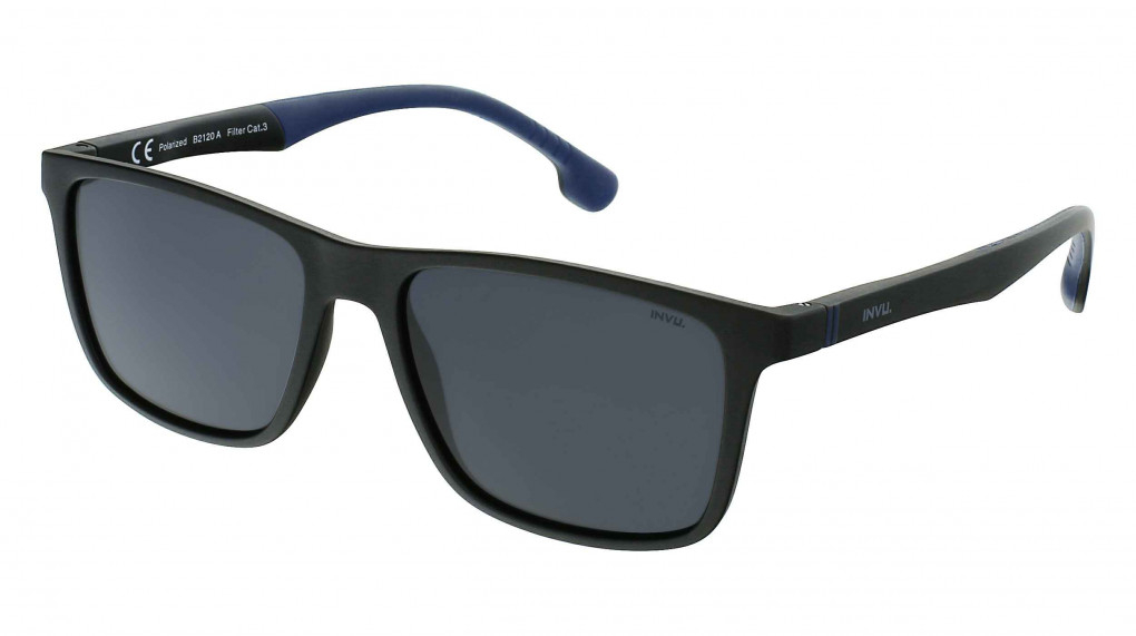 Scooter Satin Black/Navy with Solid Smoke Ultra Polarized lenses