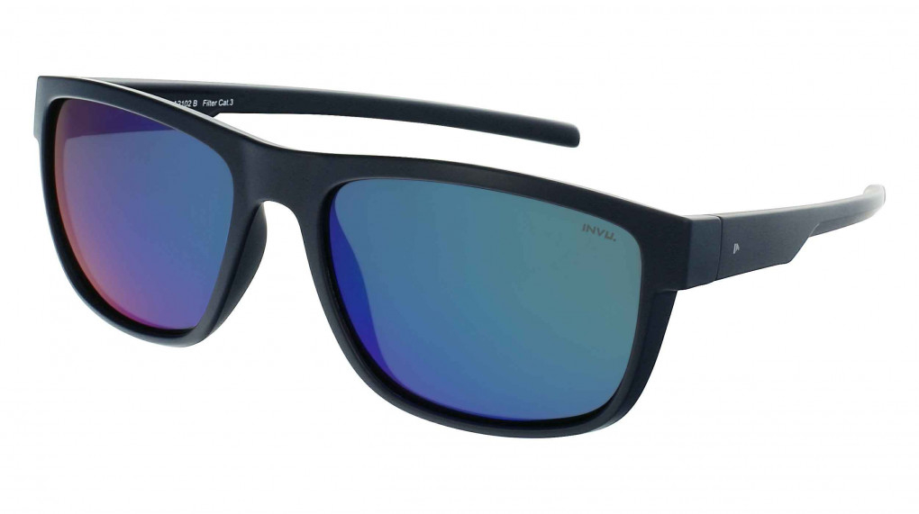 Sprint Satin Navy with Mirror Green on Green Ultra Polarized lenses