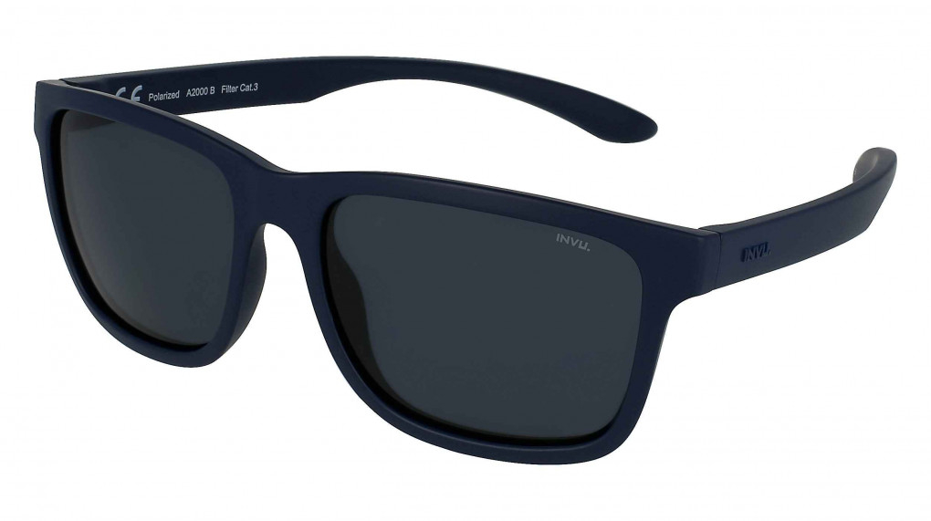 Catamaran Matte Navy with Solid Smoke Ultra Polarized lenses