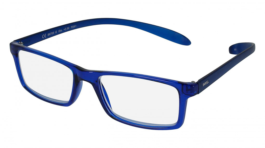 Ares Blue with Clear Optical Reading Glass lenses