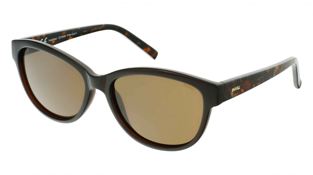Marilyn Dark Brown/Demi with Solid Brown Ultra Polarized lenses