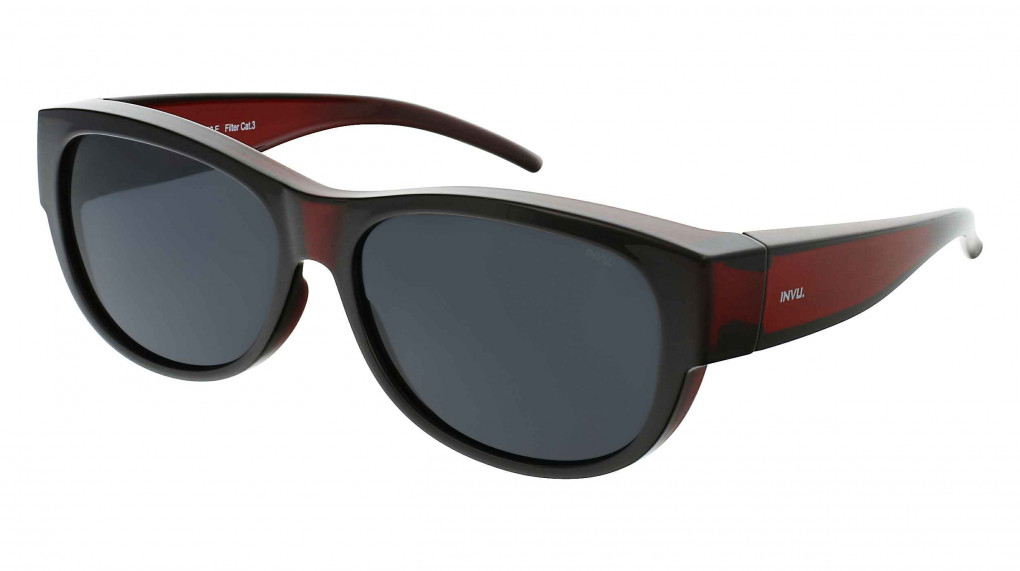 Viola Transparent Wine with Solid Smoke Ultra Polarized lenses