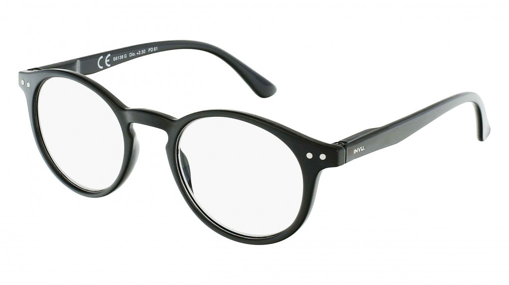 Dionysus Black with Clear Optical Reading Glass lenses