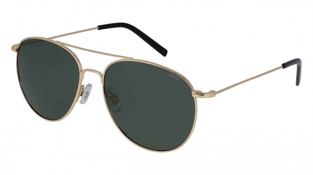 Silverstone Gold with Solid Green Ultra Polarized lenses