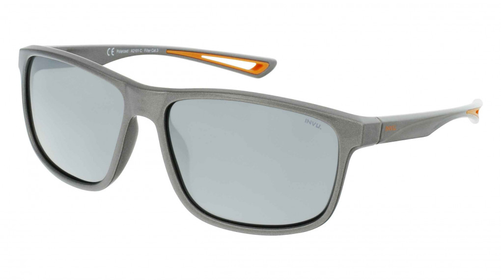 El Capitan Metal Grey/Rubberized Orange with Mirror Silver on Smoke Ultra Polarized lenses