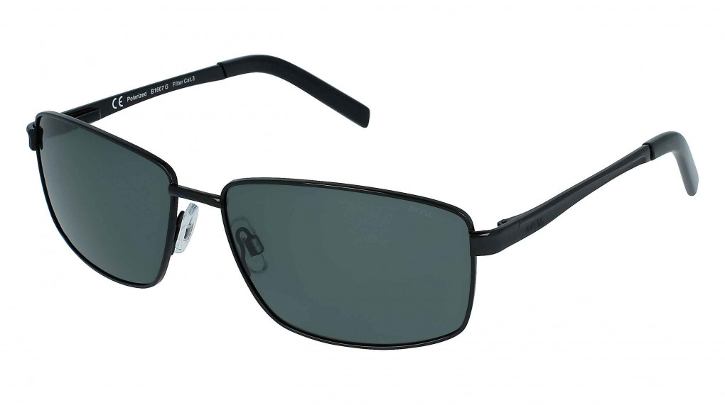 Roadster Matte Black with Solid Green Ultra Polarized lenses