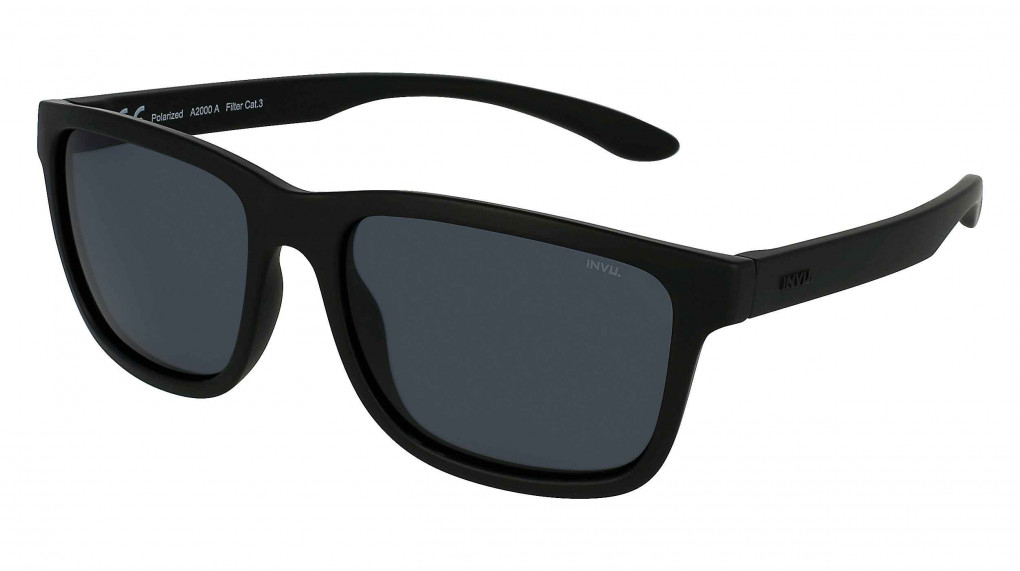 Catamaran Matte Black with Solid Grey Ultra Polarized lenses