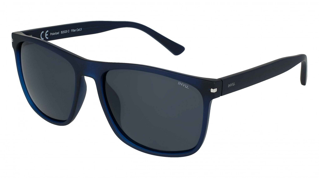 Cape Town Matte Transparent Blue with Solid Smoke Ultra Polarized lenses